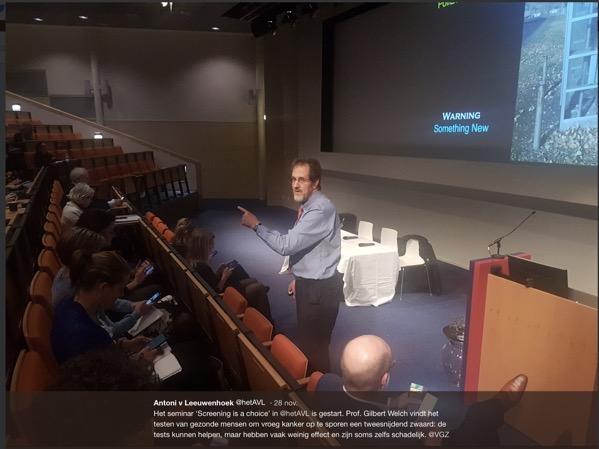 Welch tijdens presentatie